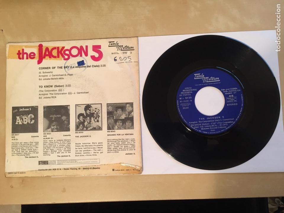 """Discos de vinilo: The Jackson 5 - Corner Of The Sky - PROMO SINGLE RADIO 7"""" - 1972 SPAIN - Foto 3 - 255648945"""