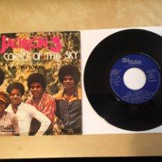 "Discos de vinilo: THE JACKSON 5 - CORNER OF THE SKY - PROMO SINGLE RADIO 7"" - 1972 SPAIN. Lote 255648945"