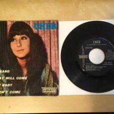 "Discos de vinilo: CHER - BANG BANG +3 - SINGLE EP RADIO 7"" - 1966 SPAIN. Lote 255649755"