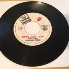 "Disques de vinyle: THE ROLLING STONES - BROWN SUGAR / BITCH - PROMO SINGLE RADIO 7"" - 1971 SPAIN. Lote 255651515"