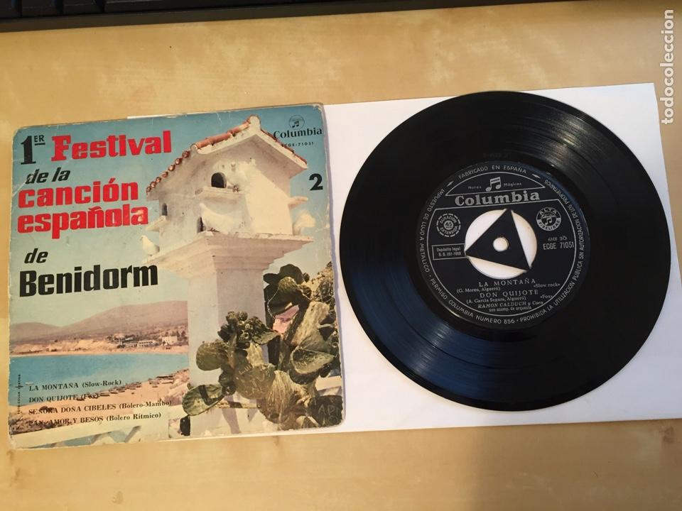 """PRIMER FESTIVAL DE LA CANCIÓN ESPAÑOLA DE BENIDORM EP - RAMON CALDUCH 1959 - SINGLE RADIO 7"""" - SPAIN (Música - Discos - Singles Vinilo - Otros Festivales de la Canción)"""