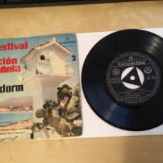 """Discos de vinilo: PRIMER FESTIVAL DE LA CANCIÓN ESPAÑOLA DE BENIDORM EP - RAMON CALDUCH 1959 - SINGLE RADIO 7"""" - SPAIN. Lote 255652050"""