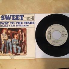 """Discos de vinilo: SWEET - STAIRWAY TO THE STARS (ESCALERA A LAS ESTRELLAS) - PROMO SINGLE RADIO 7"""" - 1977 RCA SPAIN. Lote 255922970"""