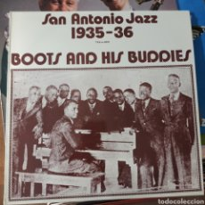 Discos de vinilo: BOOTS AND HIS BUDDIES - SAN ANTONIO JAZZ 1935-36 (TAX – M, SWEDEN). Lote 255924380
