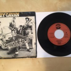 "Discos de vinilo: CRAZY CAVAN - STOMPIN' SHOES (ZAPATOS VOLADORES) - SINGLE RADIO 7"" - 1980 SPAIN. Lote 255924500"