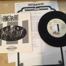 """Discos de vinilo: SANGTRAIT - TERRA DE VENTS (INCLUYE HOJA DE PRENSA) PROMO - SINGLE RADIO 7"""" - 1990 PICAP SPAIN. Lote 255926060"""