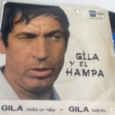 Discos de vinilo: SINGLE (VINILO) DE GILA AÑOS 60. Lote 255926195