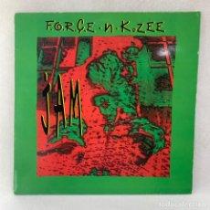 Discos de vinilo: MAXI XINGLE F.O.R.C.E. -N- K. ZEE - JAM - UK - AÑO 1992. Lote 255936935