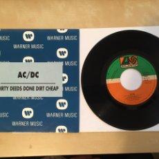 "Discos de vinilo: AC/DC - DIRTY DEEDS DONE DIRT CHEAP - PROMO SINGLE RADIO 7"" - 1992 ATLANTIC SPAIN ACDC AC DC. Lote 255939425"