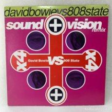 Discos de vinilo: MAXI SINGLE DAVID BOWIE VS 808 STATE - SOUND + VISION (REMIX) - USA - AÑO 1991. Lote 255942285