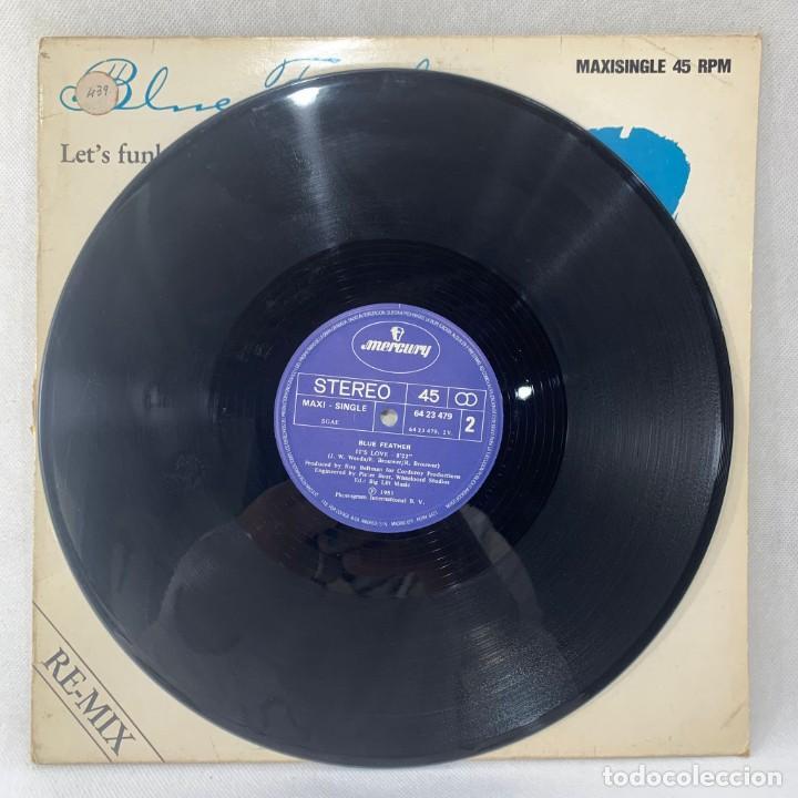 Discos de vinilo: MAXI SINGLE BLUE FEATHER - LETS FUNK TONIGHT - ESPAÑA - AÑO 1983 - Foto 2 - 255943795