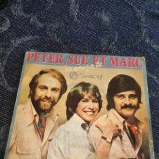Disques de vinyle: SINGLE VINILO EUROVISION - PETER, SUE ET MARC - IO SENZA TE - ME WITHOUT YOU (VERSIÓN EN INGLÉS ). Lote 255945230