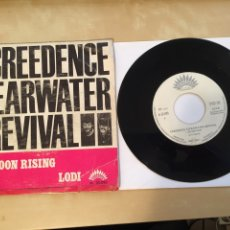 "Discos de vinilo: CREEDENCE CLEARWATER REVIVAL - BAD MOON RISING / LODI - SINGLE RADIO 7"" - 1969 SPAIN. Lote 255946180"