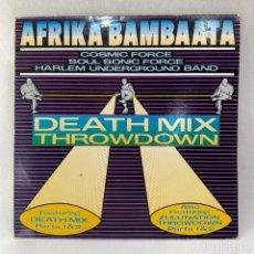 Discos de vinilo: MAXI SINGLE AFRIKA BAMBAATA - DEATH MIX THROWDOWN - UK - AÑO 1987. Lote 255947810