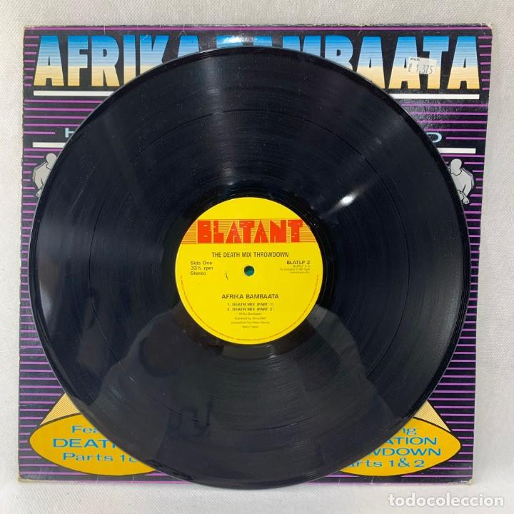 Discos de vinilo: MAXI SINGLE AFRIKA BAMBAATA - DEATH MIX THROWDOWN - UK - AÑO 1987 - Foto 2 - 255947810