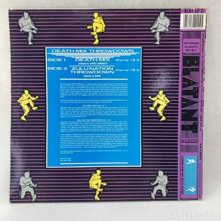 Discos de vinilo: MAXI SINGLE AFRIKA BAMBAATA - DEATH MIX THROWDOWN - UK - AÑO 1987 - Foto 4 - 255947810