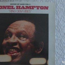Discos de vinilo: LIONEL HAMPTON. RING DEM VIBES. (HOUSE OF JAZZ VOL 2) LP BARCLAY. 1980. Lote 255948780