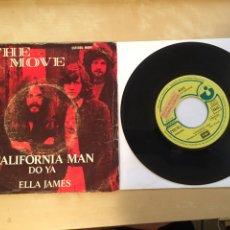 "Discos de vinilo: THE MOVE - CALIFORNIA MAN / DO YA / ELLA JAMES - PROMO - SINGLE RADIO 7"" - 1972 HARVEST SPAIN. Lote 255950330"