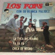 Discos de vinilo: EP LOS POPS CON SU BLANCA PALIDEZ - LA CHICA DEL VERANO - REGAL EMI SEDL19.553 -PED MINIMO 7€. Lote 255952275