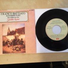 "Discos de vinilo: FRANCO BATTIATO - CARTA AL GOBERNADOR DE LIBIA - SINGLE RADIO 7"" - EMI SPAIN. Lote 255953395"