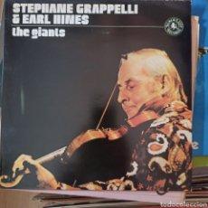 Discos de vinilo: STEPHANE GRAPPELLI & EARL HINES - THE GIANTS (BLACK LION RECORDS, UK, 1977). Lote 255957985