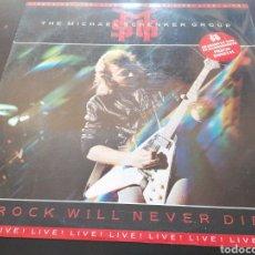 Discos de vinilo: THE MICHAEL SCHENKER GROUP - ROCK WILL NEVER DIE - EDICIÓN ESPAÑOLA LP. Lote 255959935