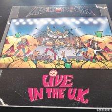 Discos de vinilo: HELLOWEEN - LIVE IN THE U. K. LP EDICIÓN ESPAÑOLA (ENCARTE +PÓSTER). Lote 255964025