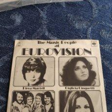 Disques de vinyle: VINILO SINGLE EP EUROVISION - ABBA + GIGLIOLA CINQUETTI + ANNE-MARIE DAVID + PIERA MARTELL. Lote 255964530