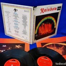 Discos de vinilo: RAINBOW - ON STAGE - 2LP SPAIN - CON INSERTOS CON FOTOS - PORTADA GENIAL Y VINILOS EXCELENTES. Lote 255968580