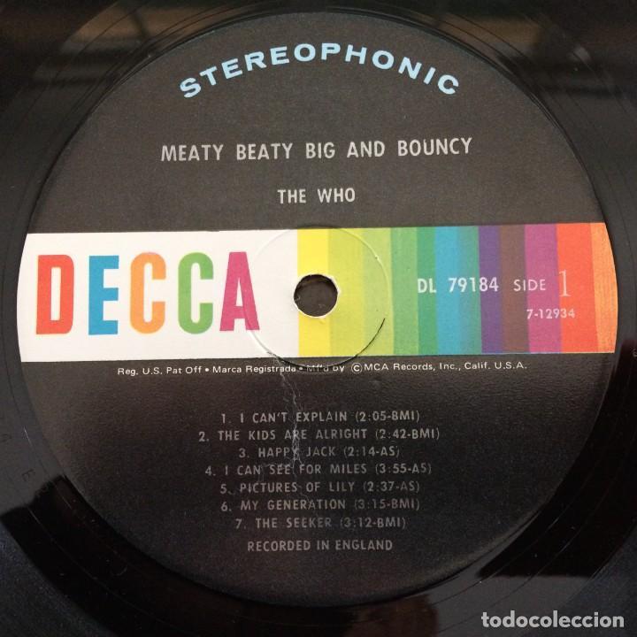 Discos de vinilo: The Who – Meaty Beaty Big And Bouncy USA,1971 Decca - Foto 4 - 9279771