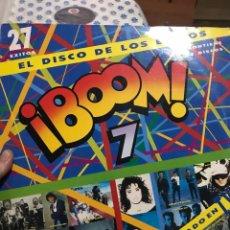 Discos de vinilo: BOOM7 . 2LPS . HEROES DEL SILENCIO,CELTAS CORTOS,CHIMO BAYO, AMISTADES PELIGROSAS ERC. Lote 255977490