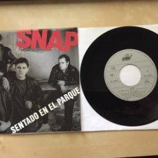"""Discos de vinilo: SNAP - SENTADO EN EL PARQUE / TODOS LOS CHICOS - SINGLE RADIO 7"""" - 1990 ARIOLA SPAIN. Lote 255982530"""