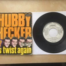 "Discos de vinilo: CHUBBY CHECKER - LET'S TWIST AGAIN - PROMO SINGLE RADIO 7"" - 1975 SPAIN. Lote 255985000"