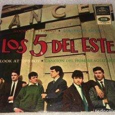 Discos de vinilo: EP LOS CINCO 5 DEL ESTE - NOCHE DE VERANO Y OTROS TEMAS - REGAL EMI SEDL19.431 -PED MINIMO 7€. Lote 255990230