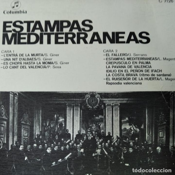 Discos de vinilo: ESTAMPAS MEDITERRANEAS, BANDA UNION MUSICAL DE LIRIA - LP.MUSICA VALENCIANA. - Foto 2 - 255991550