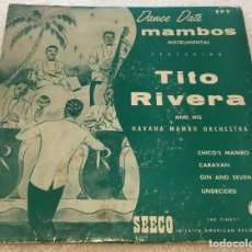 Discos de vinil: EP TITO RIVERA Y SU HAVANA MAMBO ORCHESTRA - CHICO'S MAMBO Y OTROS TEMAS - SEECO EP5 -PED MINIMO 7€. Lote 255992530