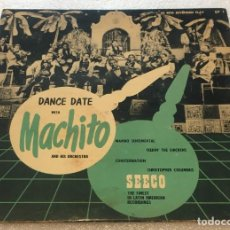Discos de vinil: EP DANCE DATE WITH MACHITO AND HIS AFRO CUBANS - SEECO EP1 -PED MINIMO 7€. Lote 255993690