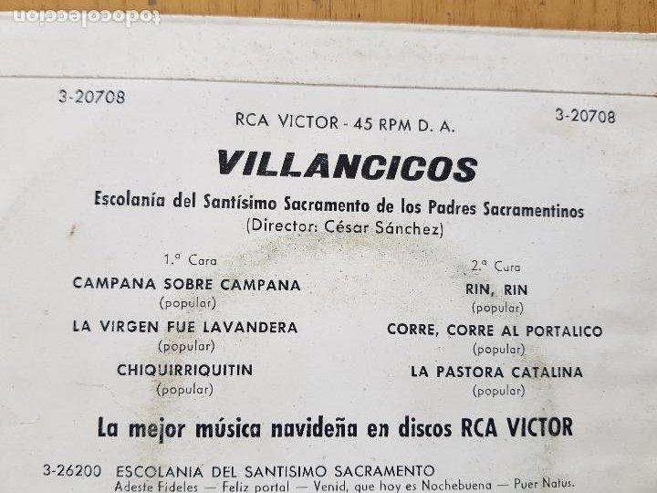 Discos de vinilo: VILLANCICOS,ESCOLANOA DEL STMO.SACRAMENTO DE LOS PADRES SACRAMENTINOS - Foto 2 - 255998470