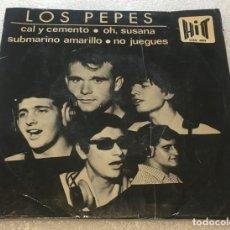 Discos de vinilo: EP LOS PEPES - CAL Y CEMENTO Y OTROS TEMAS - HIT CGE603 -PEDIDO MINIMO 7€. Lote 255999495