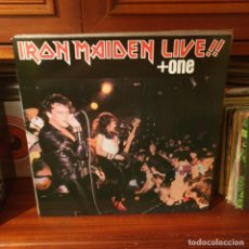 Discos de vinil: IRON MAIDEN / LIVE + ONE / NOT ON LABEL. Lote 256004780