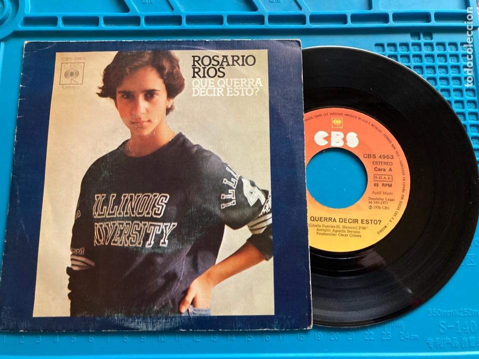 ROSARIO RIOS QUE QUERRÁ DECIR ESTO? CBS 1976 PRIMER SINGLE DE ROSARIO FLORES (Música - Discos - Singles Vinilo - Solistas Españoles de los 70 a la actualidad)
