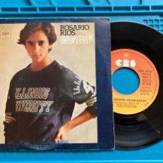 Discos de vinilo: ROSARIO RIOS QUE QUERRÁ DECIR ESTO? CBS 1976 PRIMER SINGLE DE ROSARIO FLORES. Lote 256018330