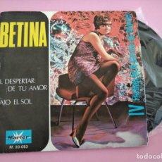 Discos de vinil: BETINA - FESTIVAL DEL ATLÁNTICO -, SG, EL DESPERTAR DE TU AMOR + 1, AÑO 1969. Lote 256027465