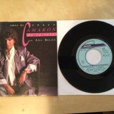 "Discos de vinilo: CAMARON DE LA ISLA CON ANA BELEN - AMOR DE CONUCO - SINGLE 7"" - 1989 SPAIN. Lote 256032730"