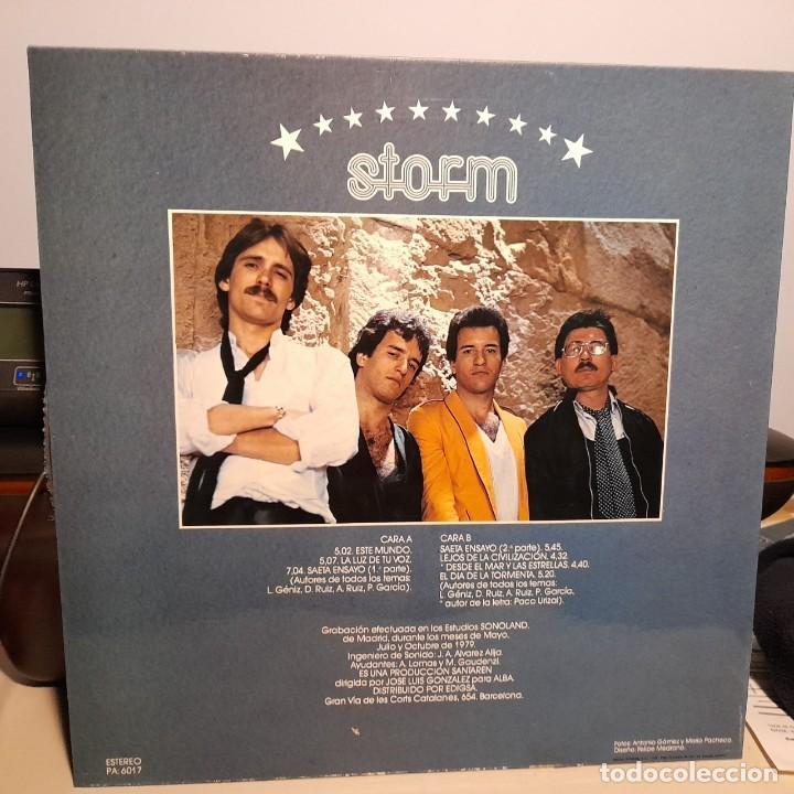 Discos de vinilo: LP STORM : EL DIA DE LA TORMENTA ( COMPLETAMENTE NUEVO, EDICION ORIGINAL, CON INSERTO LETRAS ) - Foto 2 - 256033100