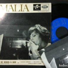 Discos de vinilo: AMALIA RODRIGUES - VOU DAR DE BEBER À DOR (MARIQUINHAS) - EP PORTUGUES CON TARJETA 1969 - COLUMBIA. Lote 256036955