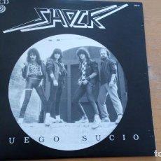 Discos de vinilo: SHOCK JUEGO SUCIO LP 1986. Lote 256037645