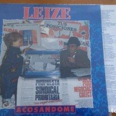 Discos de vinilo: LEIZE ACOSANDOME LP 1991 CON INSERTO. Lote 256039140