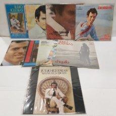 Discos de vinilo: JULIO IGLESIAS 9 SINGLES BUEN ESTADO SINGLE FIRMADO POR JULIO IGLESIAS 1968-69-70-73-75. Lote 256041335