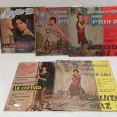 Discos de vinilo: MARUJITA DIAZ 5 SINGLES Y DESPUÉS DEL CUPLE, LA CORISTA, DESPUÉS DEL CUPLÉ. Lote 256048050